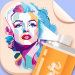 Spray Paint Art Celebrity Painting Stencil Art 1.4 APK MODs Unlimited Money Hack Download for android