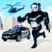 Police Panda Robot Car Transform Flying Car Games 1.7 APK MODs Unlimited Money Hack Download for android
